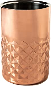 Wine Bottle Cooler Chiller in Beautiful Stainless Steel Double Wall Copper Finish Beverage Cooler for Parties, Dinner or Gifts for Men Women or Wine Lovers in Perfect Size 12 x18 cm