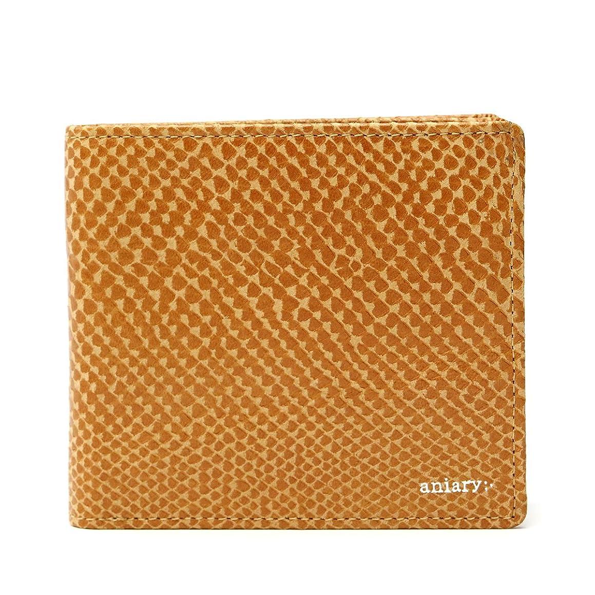 ポーチ所有者切手[アニアリ] 二つ折り財布 スケイルレザー 18-20000
