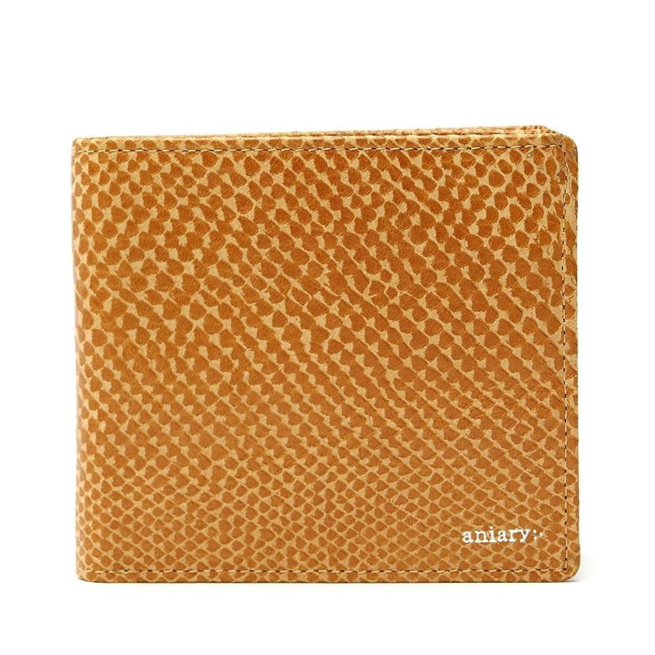 遺伝子特徴づける拘束する[アニアリ] 二つ折り財布 スケイルレザー 18-20000