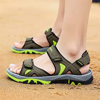 SHENLIJUAN Sandals for Men Outdoor  Water Shoes Slip On Style Mesh Material Hook&Loop Strap Fashion Buckles
