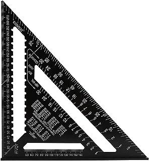 H HOMEWINS 30 CM Metrisch Professionell Dreieck-Winkelmesser Aluminiumlegierung Dreieck Lineal Anschlagwinkel Messwerkzeug für Zimmermann, Dachdecker, Ingenieur