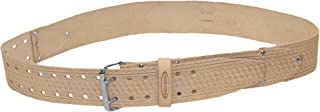 McGuire Nicholas 960 2-Inch Roller Buckle Belt in Tan Saddle Leather