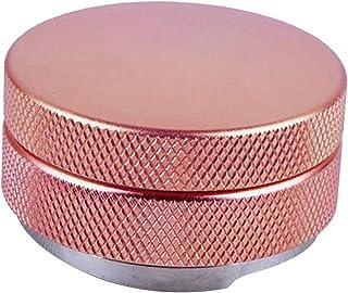 Fenteer Mouture de café Sabotage Distributeur Inoxydable Café Outil Leveler 58mm Fond Diamètre pour Portfilters - Rose Gold