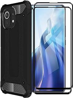 FINEONE® Funda para Xiaomi Mi 11, protección contra Golpes de TPU + PC Resistente a arañazos (Doble Capa) Carcasa para Xia...