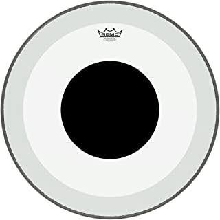 Remo P31322-10 Clear Powerstroke 3 Bass Drum Head - 22-Inch - Black Dot