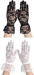 Simplicity Women's Vintage Sheer Floral Lace Wrist Length Gloves