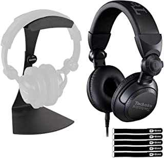 $199 » Technics EAH-DJ1200 Pro On-Ear Wired DJ Headphones Swivel-Mounted w Stand Pack