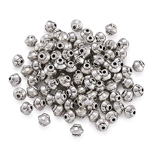 10 Pieces Beads Antique Silver Tone Beads Saucer Beads 11mm