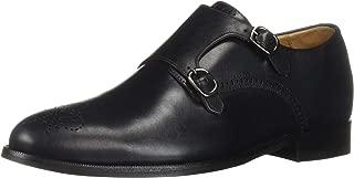 Mens Leather Double Monk Wingtip Dress Shoe Oxford