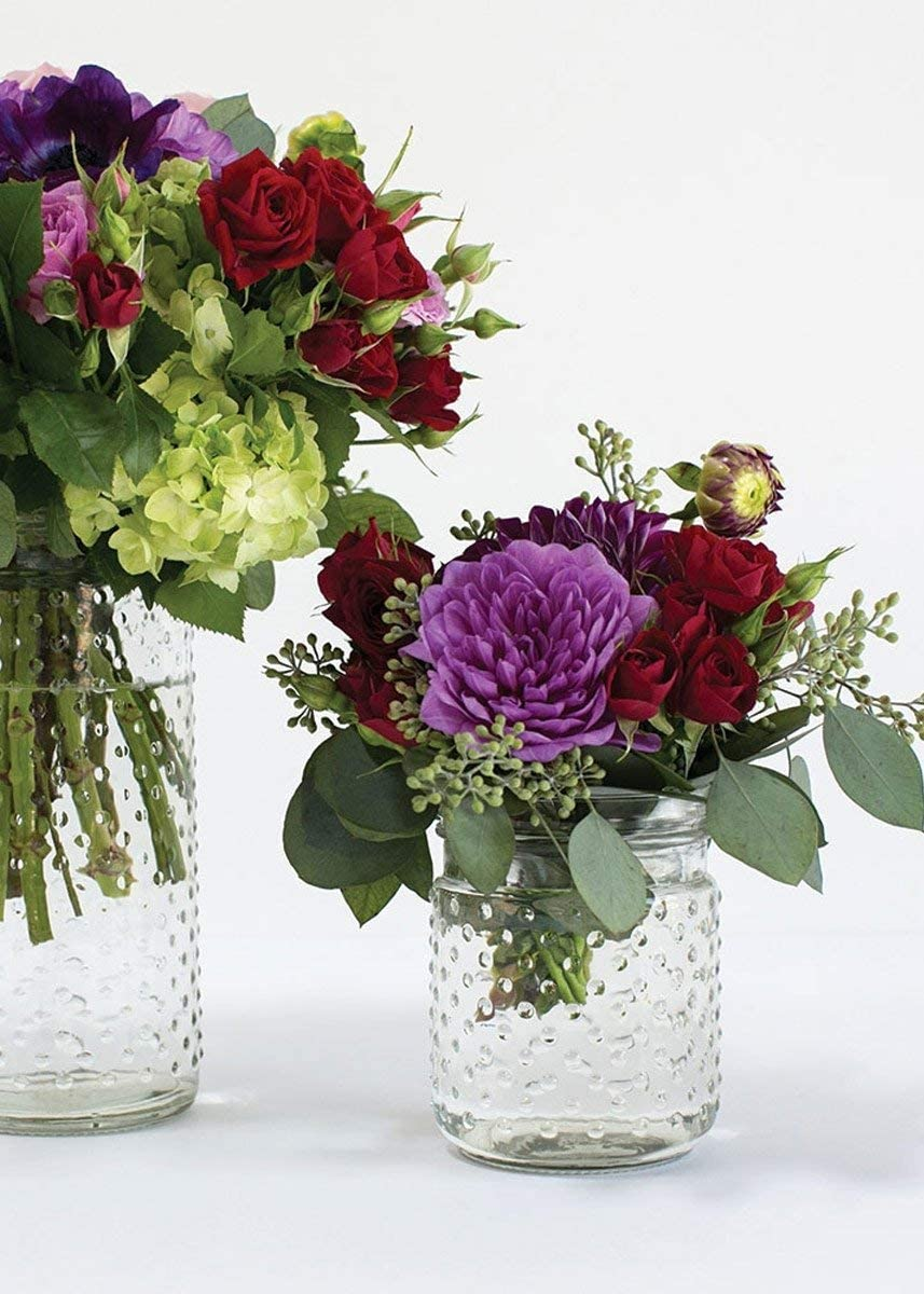 Sold Separately Clear Hobnail Jars without Handle from Bliss Home