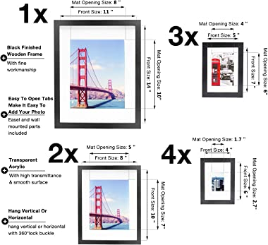 Vsadey 10 Pack Picture Frames Set, Photo Frames Collage for Tabletop or Wall Decor, Gallery Wall Frame Set for Wall Collage w