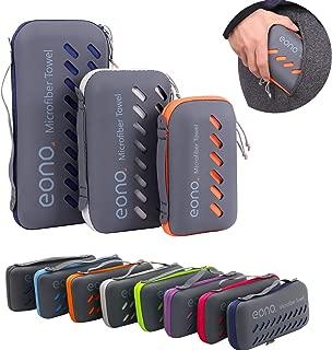 Eono Essentials Toalla de Microfibra para Llevar al Gimnasio, a la Playa, de Camping, de Viaje, de Natacion, o de Vacaciones. Secado rápido, Superabsorbente, Ultracompacta