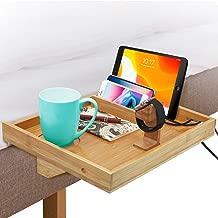 Bedside Shelf, Bunk Bed Shelf,Bedside Tray,Bed Caddy,Floating Nightstand,Bedside Storage Organizer,Bedside Table,Bamboo Bedside Shelf for Bedroom,Dorm,Side Bunk,Small Spaces