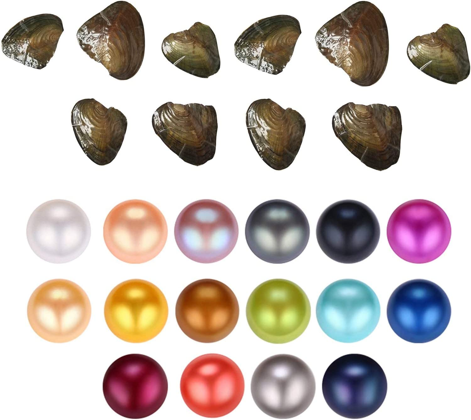 HENGSHENG online All items in the store shop 10 Pieces Freshwater Cultured Oysters Pearl with Singl