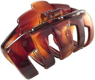Parcelona 法国管状大覆盖弹簧玳瑁 爪发夹 夹钳