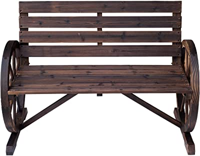 Miraculous Amazon Com Outsunny Rustic Wooden Outdoor Patio Wagon Unemploymentrelief Wooden Chair Designs For Living Room Unemploymentrelieforg