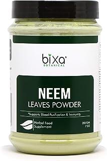 bixa BOTANICAL Neem Leaf Powder (Azadirachta Indica) Herbal Blood Purifier & Anti-Septic | Herbal Supplement For Blood & S...