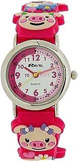 Ravel Time Teacher Girls 3D Piggy Hot Pink Rubber Strap Watch R1513.69