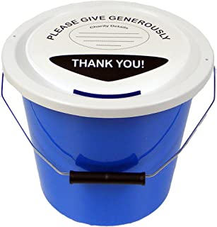 Charity Money Collection Bucket 5 Litres - Light Blue