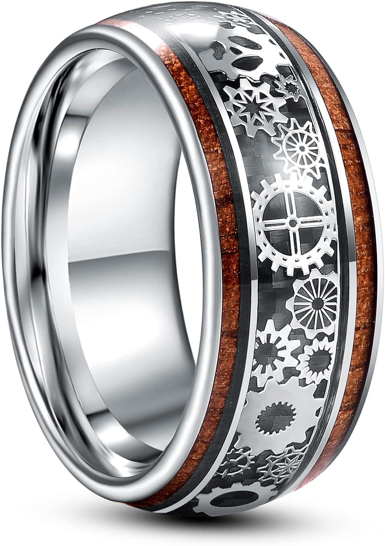TUNGSTORY 10mm Award Steampunk Gear store Wheel for Tungsten Ring Women Men