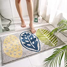 "Grey Bathroom Mats 20""x32"" Washable Bath Rugs for Bathroom Tub Sink Floor Mat Non Slip Rubber Backing Absorbent Mud Mat fo..."