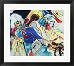 Great Art Now Improvisation No. 30 - Cannons (1913) by Wassily Kandinsky Framed Art Print Wall Picture, Black Frame, 25 x 23 inches