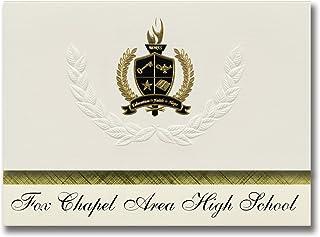 Signature Ankündigungen Fox Kapelle Bereich High School (Pittsburgh, PA) Graduation Ankündigungen, Presidential Stil, Elite Paket 25 Stück mit Gold & Schwarz Metallic Folie Dichtung B078VCB3V9  Stabile Qualität