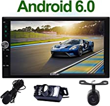 Front & Rear Camera Included! Android 7.1 Double Din Car Stereo with 7'' Touch Screen in Dash GPS Navigation Entertainment Radio Receiver with External Microphone Support Bluetooth WiFi Mirror Link