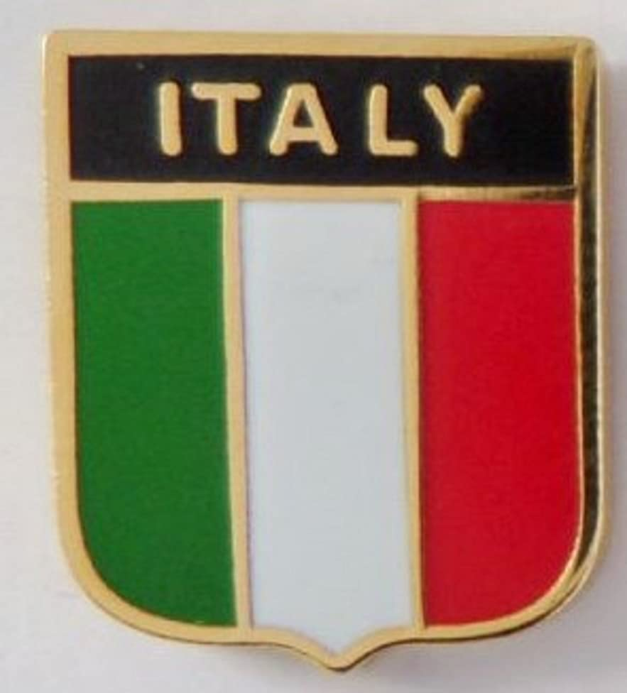 Italy Flag Enamel and Metal Pin Badge