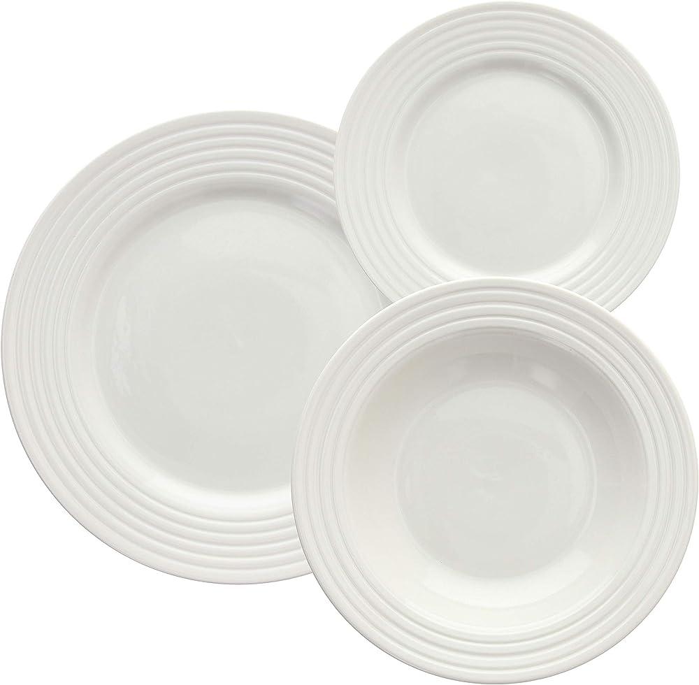Tognana rings ,   servizio tavola 18 pezzi , in porcellana PS070182175