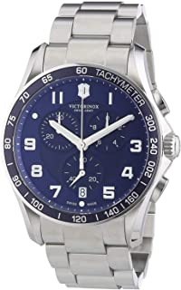 Chrono Classic XLS Blue Dial Stainless Steel Mens Watch 241652XG (Renewed)