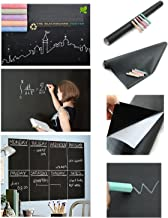 House of Quirk PVC Vinyl Wall Sticker Removable Decal Chalkboard, Black