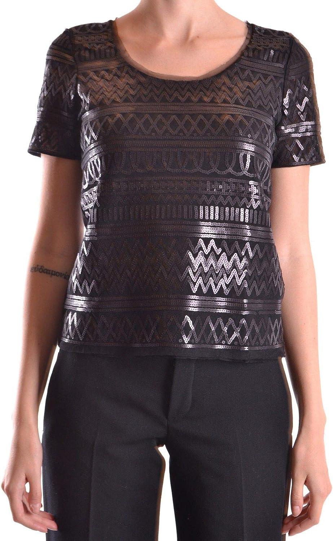 Liu Jo Women's MCBI21569 Black Polyester TShirt