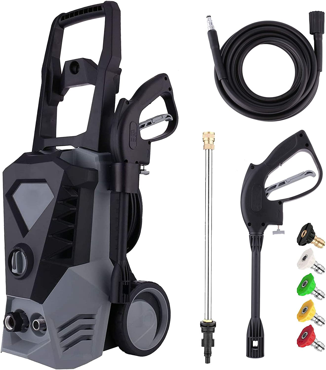 Electric Pressure Washer 3500PSI 2.6GPM High Power Washer with 3
