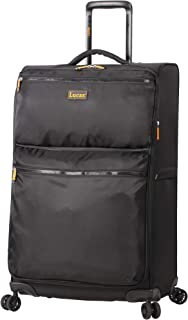 Lucas Ultra Lightweight Midsize Softside 24 inch Expandable Luggage With Spinner Wheels (24in, Black)