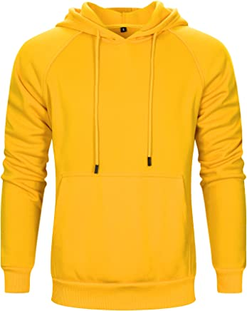 9cb08b1787571 TOLOER Men s Hoodies Pullover Casual Solid Color Sports Outwear Sweatshirts