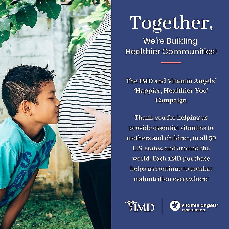 1MD Complete Probiotics Platinum | Supports Digestive Health | with Nourishing Prebiotics, 51 Billion Live CFU, 11 Strains, Dairy-Free | 30 Vegetarian Capsules