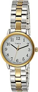 Timex Easy Reader Women's White Dial Stainless Steel Band Watch - TW2R58800
