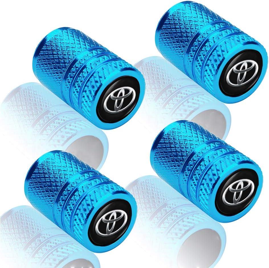 Auto Tire Caps for Car,Logo Styling Decoration Accessories for Chevrolet Cruze Malibu Camaro Colorado Equinox Silverado,Car Tire Air Valve Caps for SUV,Bicycle,Motorcycles Blue 4pcs Tire Valve Caps