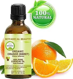 ORANGE ORGANIC ESSENTIAL OIL. 100% Pure Therapeutic Grade, Premium Quality, Undiluted. 1 Fl.oz.- 30 ml. by Botanical Beauty.