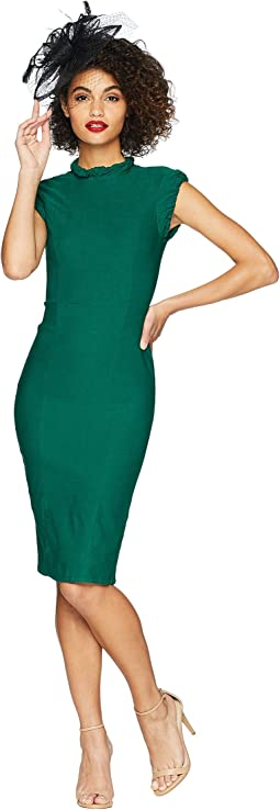 High Collar Laverne Wiggle Dress