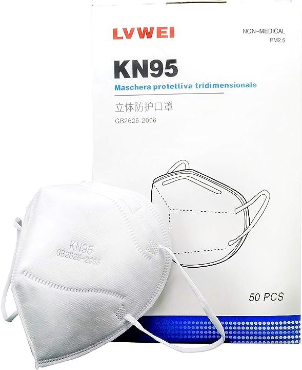 Mascherine kn95 autorizzate inail  - 50 pezzi AS-3