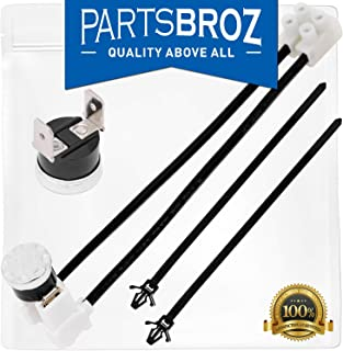 W10258275 Bimetal Thermal Fuse for Whirlpool & Kenmore Dishwashers by PartsBroz - Replaces Part Numbers 1549751, 661663, AP4423189, W10136048, W10258275, W10258275VP, W10344801, PS2360984