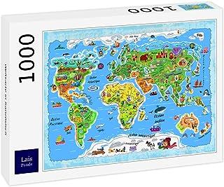 Size : 2000pc GAOX Adulte 1000//1500//2000//3000//5000 Planisph/ère Puzzle en Bois Jouets /éducatifs for Enfants Fun Connaissance G/éographie