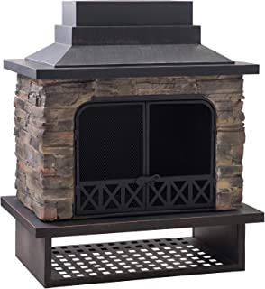 Amazon Com Sunjoy Fire Pits Outdoor Fireplaces Outdoor Heating Cooling Patio Lawn Garden