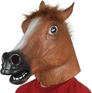 Loftus International Realistic Horse Full Head Animal Mask Brown Black One Size Novelty Item