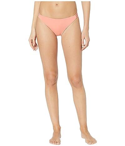 Roxy Solid Beach Classics Fashion Full Bikini Bottoms (Terra Cotta) Women
