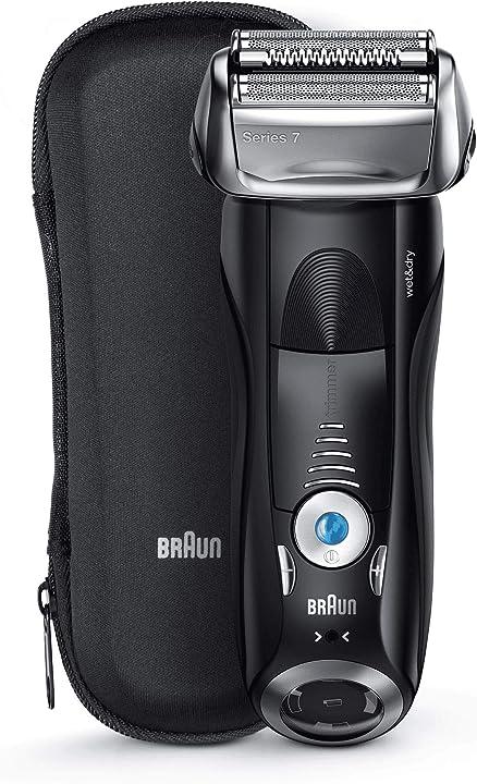 Rasoio elettrico barba braun series 7 7842s a lamina wet&dry ricaricabile senza fili rifinitore precisione 4210201217442