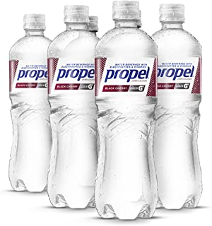 Propel Water Black Cherry Flavored Water With Electrolytes, Vitamins and No Sugar 16.9 Ounces (Pack of 6)
