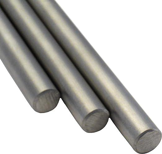 L/änge 1000 mm Abmessung /Ø 20 mm Aluminium Rundmaterial Oberfl/äche blank gezogen